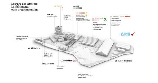 Plans des expositions du Parc des Ateliers 2021